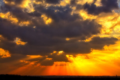 today sunset on Explore (Gena Golovskoy) Tags: sunset sun storm clouds landscape spring day russia belgorod