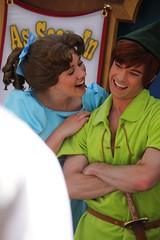 Long Lost Friends - Peter Pan and Wendy Darling (Visions Fantastic) Tags: peterpan disney wendy disneyparade longlostfriends wendydarling facecharacter limitedtimemagic