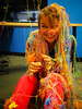 Spraying Lucy (Sensaet) Tags: birthday colors fun office prank cooliris