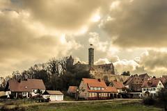 Seor Limpio (Anthony Pallotto Photography) Tags: houses sky sun castle clouds germany nikon warm village flag corrosionofconformity d7000 abenburg seorlimpio