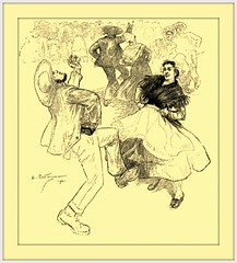1900 August Dance  Illustration by Andr Castaigne  'La Bourre  (Auvergne)' (carlylehold) Tags: opportunity history robert st mobile louis email here smartphone join stories tmobile happens signup haefner solavei haefnerwirelessgmailcom