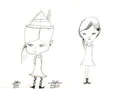 drawing girls 17. (pretty little thieves) Tags: art illustration drawing kidsart drawinggirls