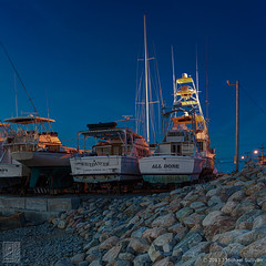 Hummarock Marina at Night (JMichaelSullivan) Tags: sunset night marina boats massachusetts dxo scituate d800 mjsfoto1956 photomatix 2013 hummarock