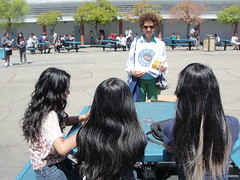 World Book Night Volunteer Group Book Giver Deb Harrison @ Tennyson High School - April 23, 2013 - Hayward, California - 5681 (Hayward Public Library) Tags: california reading libraries books literacy thelanguageofflowers cityofhayward 94541 haywardpubliclibrary vanessadiffenbaugh worldbooknight2013
