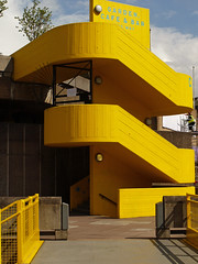 Yellow Stairs (rayyaro) Tags: uk england colour london yellow southbank staircases haywardgallery stairways