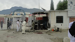 The Agency Headquarters Hospital (AHH) in Bajaur Agency, shortly after a Taliban suicide bomb attack. Credit: Ashfaq Yusufzai/IPS (IPS Inter Press Service) Tags: pakistan hospital peshawar taliban hospitals bombattacks mdgs