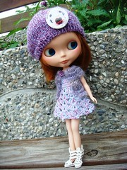 Knitted cardigan and crochet dress