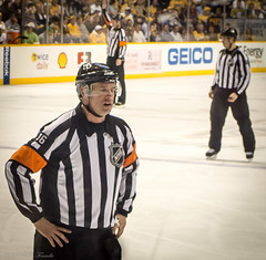 Tired Officials (Tom Frundle Photography) Tags: sports hockey nhl tn nashville pentax professional k5 nashvillepredators downtownnashville 2013 nhlhockey bridgestonearena tomfrundlephotography