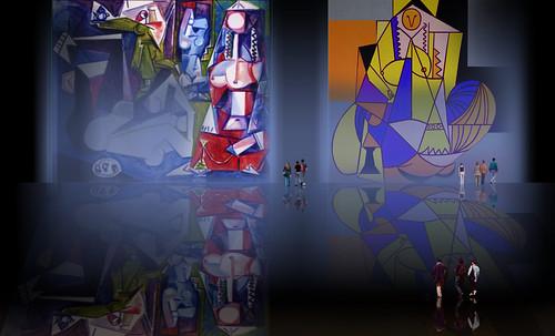 """Odaliscas (Mujeres de Argel) yuxtaposición y deconstrucción de Pablo Picasso (1955), síntesis de Roy Lichtenstein (1963). • <a style=""""font-size:0.8em;"""" href=""""http://www.flickr.com/photos/30735181@N00/8746884655/"""" target=""""_blank"""">View on Flickr</a>"""