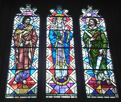 St Gwendoline's church, Talgarth: stained glass window (John Steedman) Tags: church window wales cymru stainedglass stainedglasswindow talgarth powys paysdegalles   breconshire stgwendolines