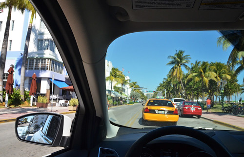 Cruising on Miami beach