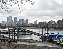 The-Thames at Wapping (D_Alexander) Tags: uk england london skyscrapers docklands riverthames wapping eastlondon towerhamlets wappingpolicestation
