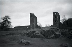 Ruins 4 (happyforest91) Tags: blackandwhite castle film monochrome landscape ruins mansion manor statelyhome delapidated