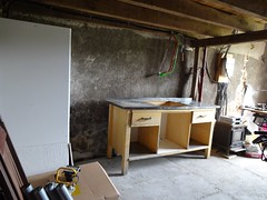 Spaces for clay and moulds (4kiku) Tags: bench for pottery atelier