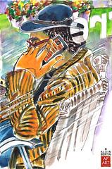 Le Coup de Fil - Phone Call (alain bertin) Tags: france pen ink watercolor sketch aquarelle croquis 2013 rochefortsurmer alainbertin urbansketcher alzebre