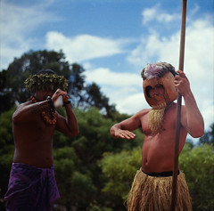 (Jeffrey-Anthony) Tags: portrait film mediumformat hawaii kauai waimea hi waimeacanyon spear reddirt hawaiianwarriors