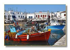 Mykonos - Le pêcheur (Docaron) Tags: boat fisherman greece bateau pêcheur grèce cyclades mykonos kikladen egeansea meregée κυκλάδεσ μύκονοσ dominiquecaron