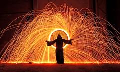 Light Painting (borjamuro) Tags: light night painting fire noche nikon fuego p510