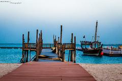 Katara Photowalk #2 (MoinulWajela) Tags: sea sky boats winter qatar doha qtr port beach scenery view blue photography dhow arab culture sand vibrance bridge 2016 qatarliving qatarphotos seemycity seemydoha way