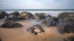 Kovalam Rocks (rameshsar) Tags: 1655 koavalam ongexposure slowspeed xt1 longexposure slowshutter rocks sea beach dreamy art nature landscapes india chennai timer
