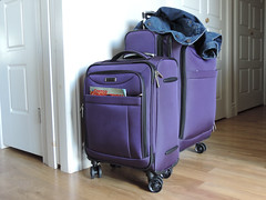 Happy - my bags are packed, I'm ready to go! (Robin Penrose) Tags: 201607 cc happy purple travel 201607travel