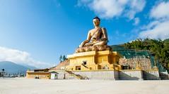 5 Reasons You Must Visit Bhutan: The Last Shangri-La2 (mohanrajdurairaj) Tags: thimphu goldcolored statue buddha buddhism religion gold copper bhutan