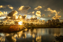sunset (Isaac Chiu5433) Tags: sunset sky color colortemperature clouds landscapes reflections park