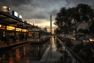 Wet streets, Buenos Aires