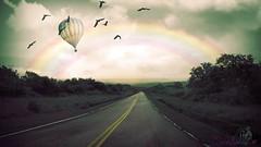 The Lonely Road (Usagigunn79) Tags: photography photomanipulated digitalillustration rainbow road birds pacific islandlife guam chamorro surreal usagigunndesigninx sarahsart