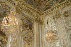 Grand Hall (Princess Ruto) Tags: nymphenburg nymphenburgpalace schlossnymphenburg munich mnchen germany palace museum hall gold fancy art fresco chandelier ceiling baroque beautiful