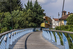"""""""Albano Zuin"""" footbrige (PurpleTita) Tags: beinasco torino turin piemonte summer estate passerella footbrige brige city albanozuin piedmont"""