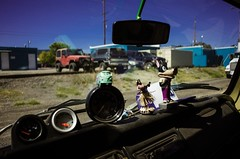Dashboard Dolls (La Chachalaca Fotografa) Tags: doll jouet muneca dashboard toy symbolic americana car automobile carculture nikon coolpix icons iconic hula wolf bigbadwolf
