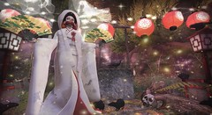 "Party for a Dead Witch ~ (LaDonna Oceanlane - ""Lala"") Tags: neonspiderfoot ladonnaoceanlane creatorscollectionbox ccb pinkfuel sakasstudio thewhitecrow spectrum ldg cubiccherrykreations cubiccherry soulmates rh kalopsia halfdeer jian hpmd naminoke anc {anc} fantasy kimono lantern well outdoor fan"