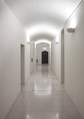 Its Never Too Late Until The Last Minute Has Gone by Simon & His Camera (Simon & His Camera) Tags: indoor floor light door somersethouse london white serene hall lights arch passage minimalism minimalist lines black simonandhiscamera reflection corridor