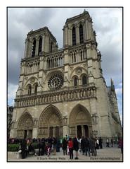 Notre Dame Cathedral (Doyle Wesley Walls) Tags: lagniappe 2395 notredamecathedral parisfrance paris religioussite touristsite iphonephoto smartphonephoto photo photograph doylewesleywalls architecture building culture