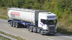 NK16 XRX (panmanstan) Tags: scania r450 wagon truck lorry commercial freight transport intermodal haulage vehicle a180 meltonross lincolnshire