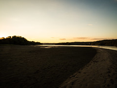 Looking north along the sand bar at low tide (hickamorehackamore) Tags: 2016 ct ctriver canon connecticut connecticutriver haddam haddammeadows fullmoon sandbar statepark summer sunset