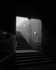 Take Me Out Of Here (erlendkaas) Tags: x100t fujifilmxseries fujifilm lamp stairs concrete lights shadows blackandwhite
