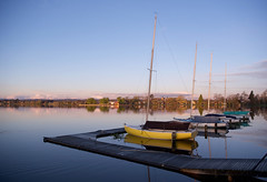 calm (bobarcpics) Tags: ballarat countryvictoria yachts lake skyline horizon reflections masts jetty