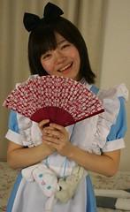 Look At My Fans! (emotiroi auranaut) Tags: girl woman lady happy happiness pretty cute adorable delightful fan bunny bunnies rabbit rabbits cheerful cheer joy joyful amuse amusement asia asian