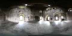 Doune Castle - panorama (soyouz) Tags: chateau moyenage movielocation panorama 360view doune stirling scotland uk equirectangular