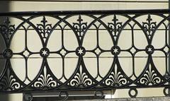 Ornate railings. (rbjag71) Tags: ornate railings fence glasgowwestend canonpowershot sx610hs shapes geometry