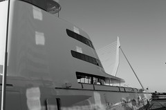 A Hamilton Megayacht (g e r a r d v o n k ) Tags: artcityart art architectuur architecture blackandwhite boats canon city canon5d3 expression eos europe flickrsbest fantastic flickraward grey holland haven harbor lifestyle ngc newacademy nederland outdoor photos port reflection rotterdam stad street summer ships this travel unlimited uit urban whereisthis where windows yabbadabbadoo