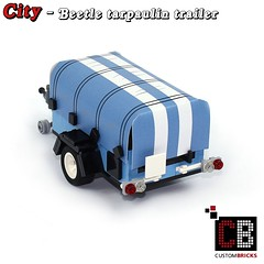 LEGO_Custom_VW_Beetle_10252_Plane_trailer_CB02 (LA-Design2012) Tags: lego custom moc city expert creator 10252 vw beetle blue edition anhnger trailer plane tarpaulin custombricks