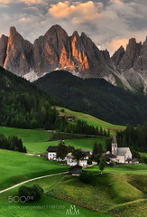 Pearls of Italy... (PhiladelphiaHVAC165) Tags: sunrise mountains church green village nikkor dolomites cpl dolomiti leefilters val di funes santa maddalena nikon d610 massimo pistone trentinoalto adigesudtirol wbpa