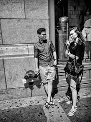 Stare Down (Roy Savoy) Tags: september digital bw blackandwhite street streetphotography monochrome noireblanc people roysavoy nyc newyorkcity newyork blacknwhite streets streettog streetogs ricoh gr2 candid flickr explore candids city photography streetphotographer 28mm nycstreetphotography gothamist tog mono flickriver snap monochromatic blancoynegro