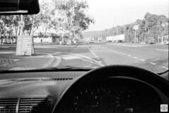 City (Pavel Vrzala) Tags: australia canberra mitchell kodak tmax100 film olympus xa street car audi a3 dash steeringwheel windscreen blackandwhite bw