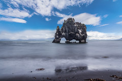 Hvitserkur is a 15 meters high basalt stack along the eastern shore of the Vatnsnes peninsula, in northwest Iceland. (tvrdypavel) Tags: hvítserkur landscape arctic basalt beautiful blue cliff coast craig destinations driver eastern ecology elephant erosion europe european evening famous hvitserkur iceland icelandic landmark lava legends locations magma mirror mountain natural nature north northwest ocean outdoor panoramic peninsula petrified reflect reflection rock scenic sea shore sky stack stone sunrise sunset tourism travel troll vacation vatnsnes view volcanic volcano water west world is