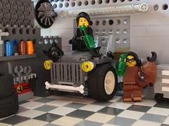 Celebration (captain_joe) Tags: toy spielzeug 365toyproject lego minifigure minifig moc car auto jeep garage