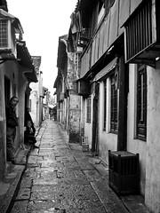 residential street (Ket Lim) Tags: shanghai china travels blackandwhite asia trips monochrome nanjing suzhou pudong bund canal xitang hangzhou travel streets